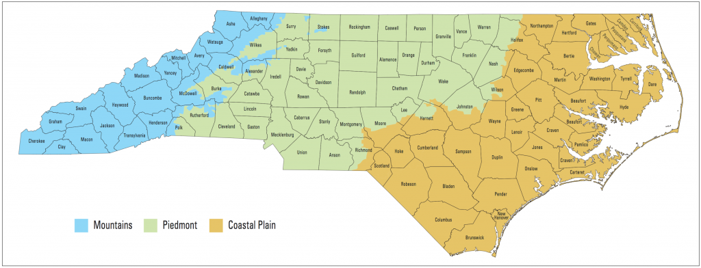N.C. planting regions map_NCState Extension