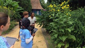 4-H Project PLANTS students study flowers at NC State's JC Raulston Arboretum